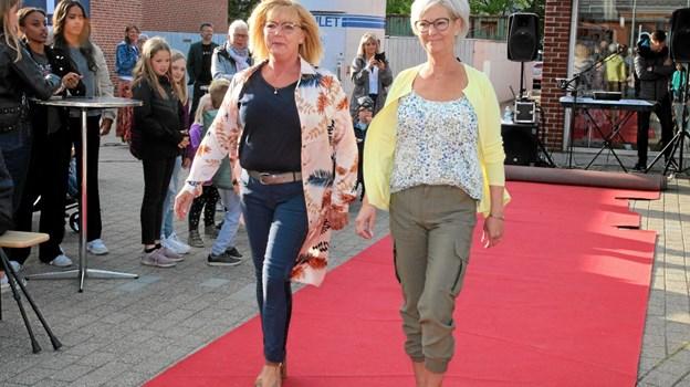 Modeshow på den røde løber i Aabybro centeret. Flemming Dahl Jensen