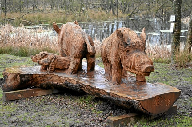 En anden af sidste års tre skulpturer pryder i dag Arden Dyrepark. Foto: Jesper Bøss Jesper Bøss
