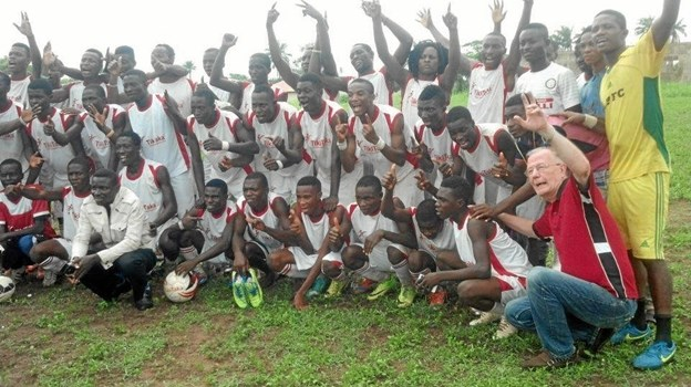 TikiTaka football Development fra Nigeria deltager i Cup No.1