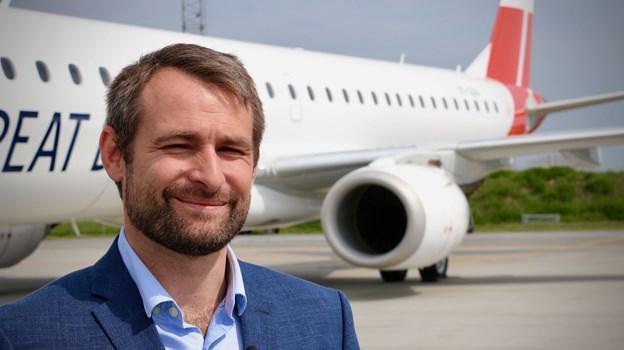 Thomas Hugo Møller er glad og stolt over, at selskabet i morgen er på vingerne. Foto: Great Dane Airlines
