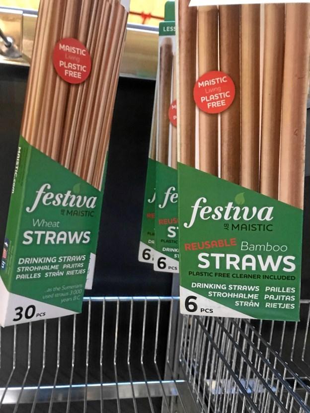 Sugerør: 7,2 mio. styk – erstattes af sugerør lavet i papir, hvedestrå samt sugerør af bambus. Både hvede og bambus er økologisk dyrket. Bambussugerøret kan vaskes og genbruges.