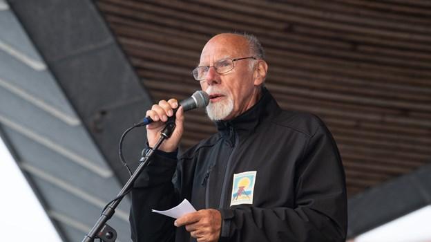 Karl Kortfits præsenterede torsdagens koncert på vegne af torvegruppen. Foto: Hans Ravn Hans Ravn