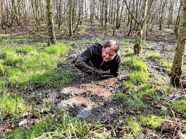 Flemming Søvndal viser her vejen til Thy Mud Race 22. april. Privatfoto. Foto: Ole Iversen