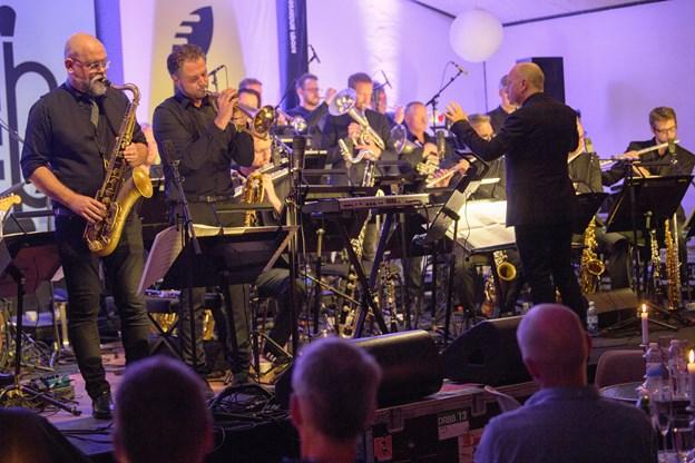 DR Big Band spillede for fuldt hus ved åbningen af dette års Jazzy Days. Foto: Peter Broen