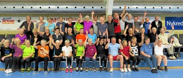 Godt Nytår og kom og være med til SOS i Løkken Idrætscenter, lyder det fra holdet Foto: Kirsten Olsen