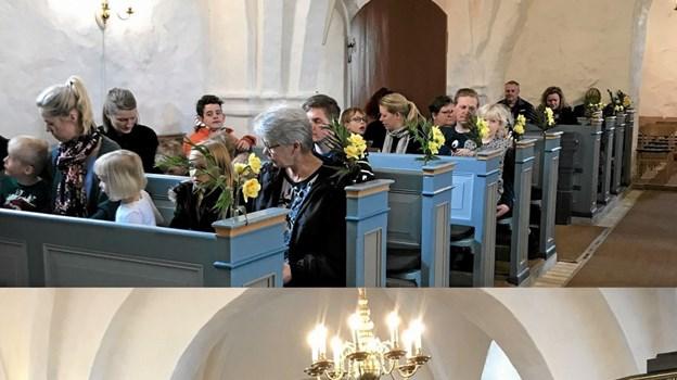 Arrangementet startede med en påskegudstjeneste i kirken. ?Foto: Privat