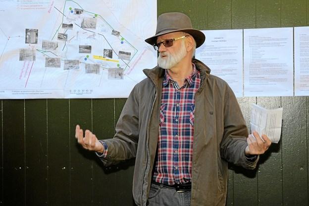 Peter Kvist bød velkommen og fortalte om det store, spændende projekt. Foto: Flemming Dahl Jensen