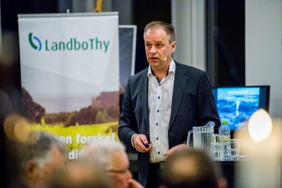 De fremmødte mdlemmer i årsmødet hos LandboThy fik positive ord med i årsberetningen fra den - nu genvalgte - formand, Leif Gravesen.Foto: Diana Holm