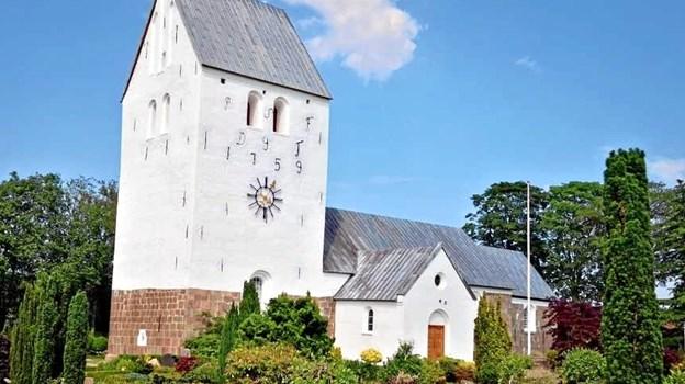 Et stk ny og frisk facade på kirken. Privatfoto