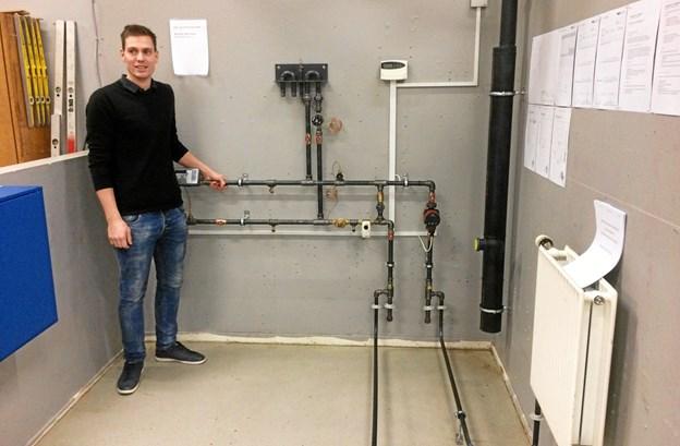 29-årige Kenneth Rieks fortsætter efter svendeprøven med at være ansat som svend hos virksomheden SUMAS A/S i Suldrup. Privatfoto