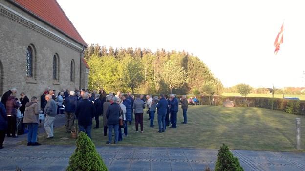 Befrielsen blev markeret i Koldmose Kirke. Privatfoto