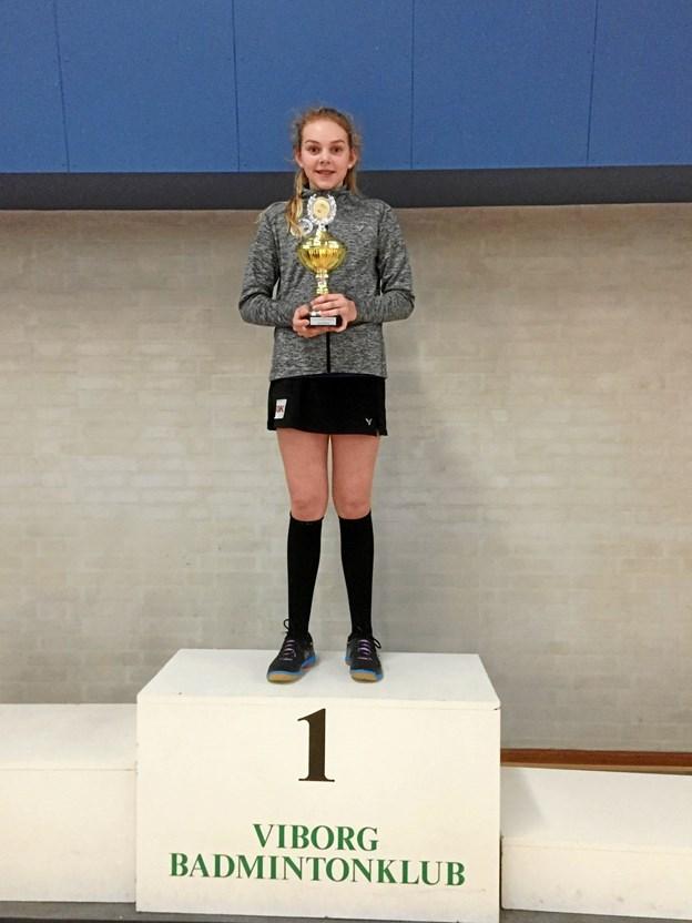 Flittige Sofie Thomsen er et af talenterne i Skagen Badmintonklub.
