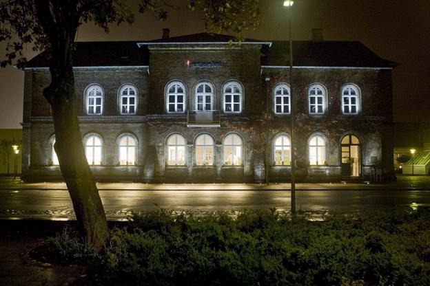 Det gamle posthus i ny lyssætning fra lysfestivalen i 2008. Carl Th Poulsen