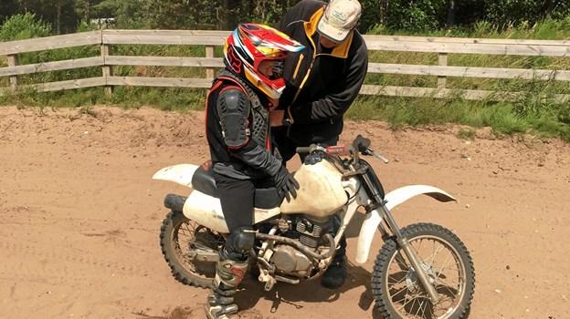 Der var i alt 22 Aktiv Ferie-tilbud at vælge imellem i den første uge af skolernes sommerferie. Et af dem var motocross. Privatfoto