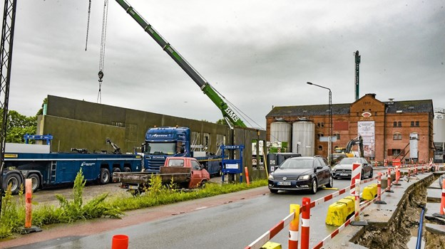 Byggeriet skal fremtidssikre det gamle bryggeri. Foto: Ole Iversen Ole Iversen
