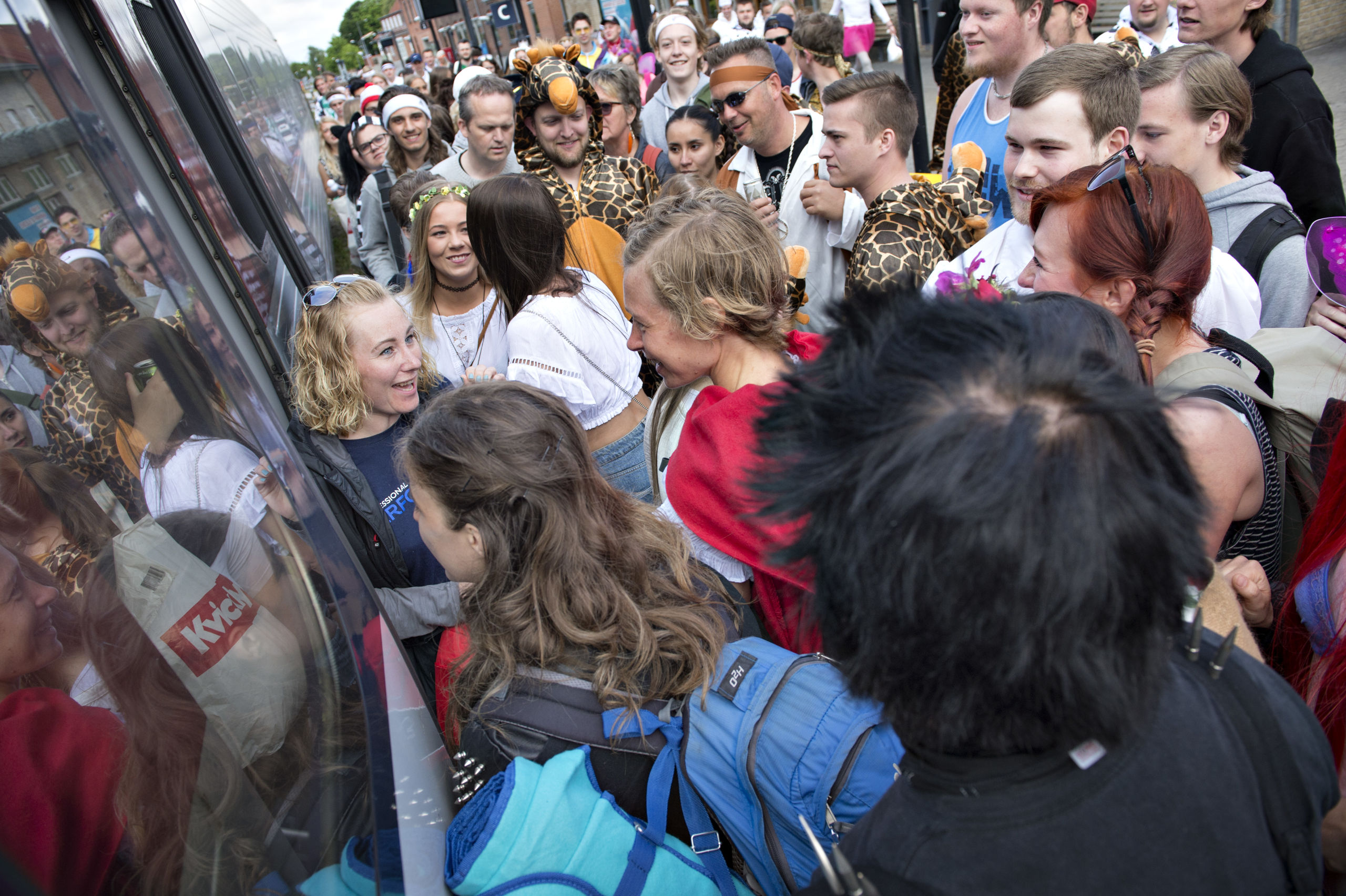 Det er populært at køre med tog i forbindelse med karnevalet - nu har Banedanmark sikret, at der også er forbindelse sydpå om natten efter festen.Arkivfoto: Henrik Louis
