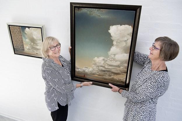 """""""0 - 100 år i Jammerbugt"""" vises første gang i september på """"Kunst på Øland"""", som Lise Nielsen og Karen-Margrethe Lauridsen står bag. Arkivfoto: Peter Mørk"""