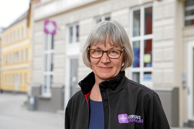 Korshærspræst Lena Bentsen fortalte om sit virke blandt mennesker på livets skyggeside. Arkivfoto