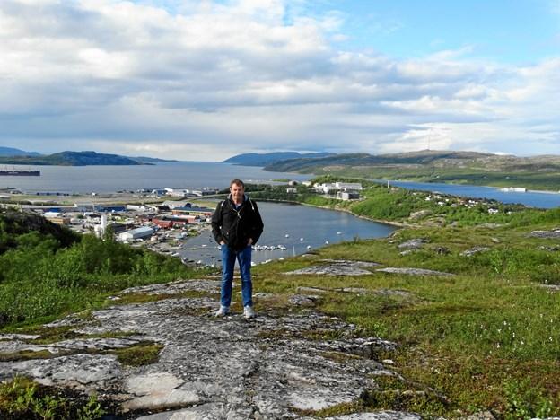 Ejnar Josefsen fortæller om Island. Privatfoto