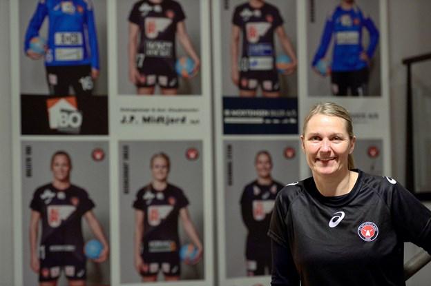 Helle Thomsen er nomineret som årets træner 2018. Arkivfoto