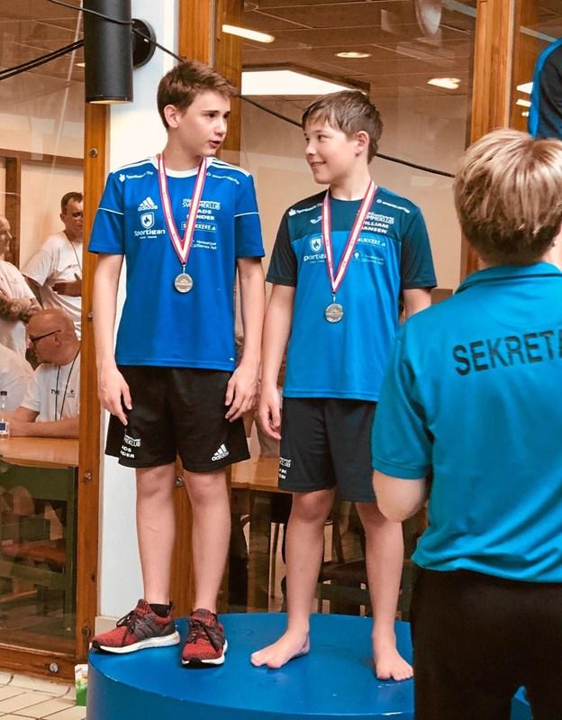 Thy-svømmerne havde nærmest fast plads på præmiepodiet i Viborg Svømmehal.Foto: Ole Iversen Ole Iversen