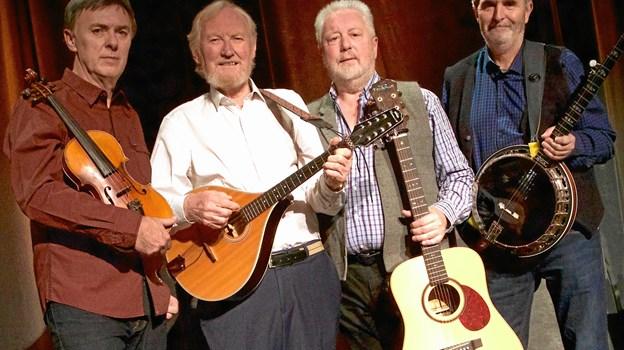 Det er næsten The Dubliners, som giver koncert i Frederikshavn i februar næste år, og alle de kendte og elskede numre er med på programmet. PR-foto