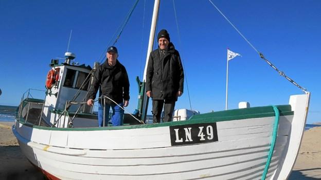 Iver Larsen og Poul E. Petersen på LN49 Stjernen. Foto: Kirsten Olsen