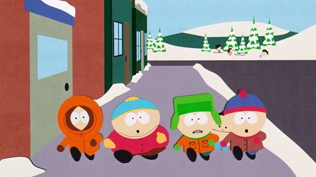 Filmens hovedpersoner er igen de fire kuglerunde tredjeklasses-elever Kyle, Stan, Kenny og den overvægtige Cartman. PR Foto