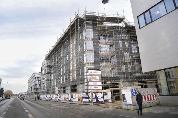 De første beboere kan efter planen rykke ind i nybyggeriet i Jyllandsgade 10 i Aalborg primo februar 2018, og anden etape bliver primo april.