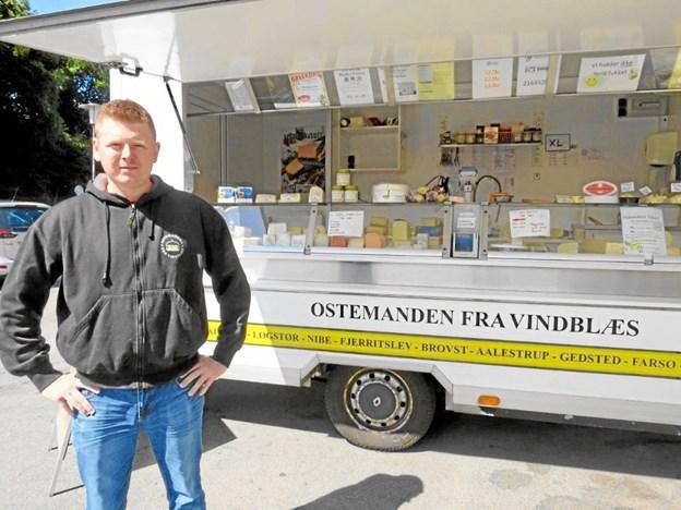 Ostemanden fra Vindblæs skifter ugedag i Fjerritslev.Privatfoto