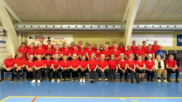 SOS holdet i Løkken klar til at starte med at spille krocket på GVLs baner. Foto: Kirsten Olsen