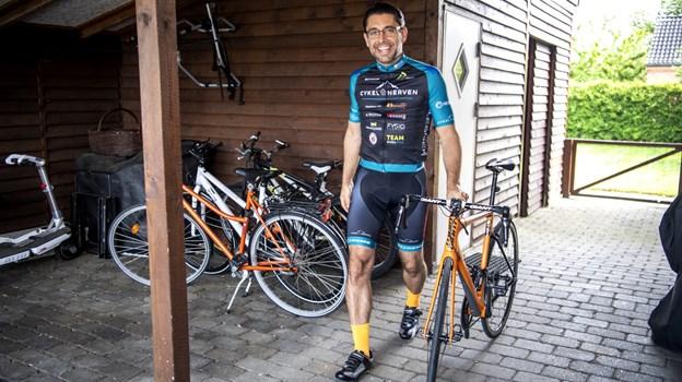 Det er sjette gang, Per Holst Rasmussen deltager i Cykelnerven. Han var bidt fra første gang, da han oplevede den franske natur, selvom han egentlig startede med at cykle på mountainbike. Foto: Laura Guldhammer Foto: Laura Guldhammer