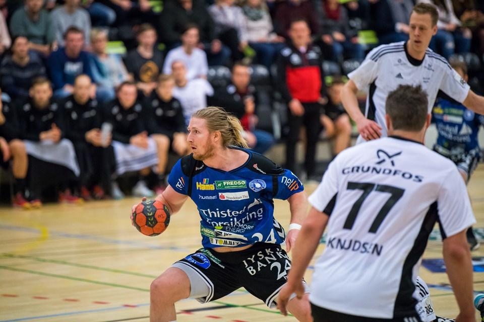 Abjørn Madsen og Mors-Thy kæmpede sig flot tilbage, men det rakte ikke i slutminutterne. Foto: Diana Holm