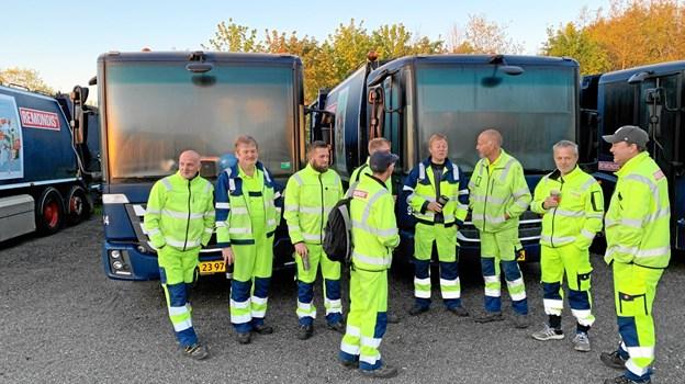Konflikten i Frederikshavn samlede solid støtte til renovationsfolkene fra kolleger i hele landet.