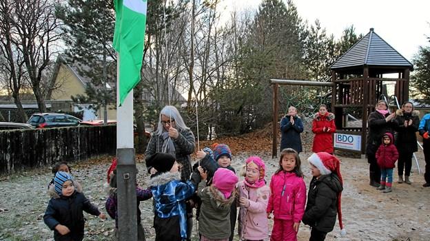 Børnene ville gerne hjælpe. Foto: Flemming Dahl Jensen Flemming Dahl Jensen