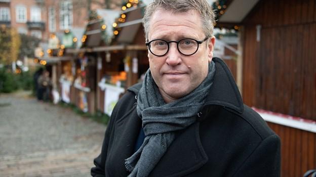 Flemming Thingbak har store forventninger til planerne, der vil gøre midtbyen endnu mere attraktiv for kunderne. Arkivfoto: Kim Dahl Hansen