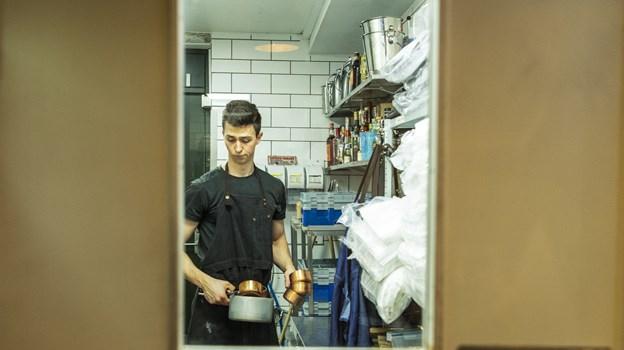 Der var travlt i køkkenet ved semifinalen mellem La Locanda og Restaurant Uafhængig. Foto: Teis Markfoged Foto: Teis Markfoged