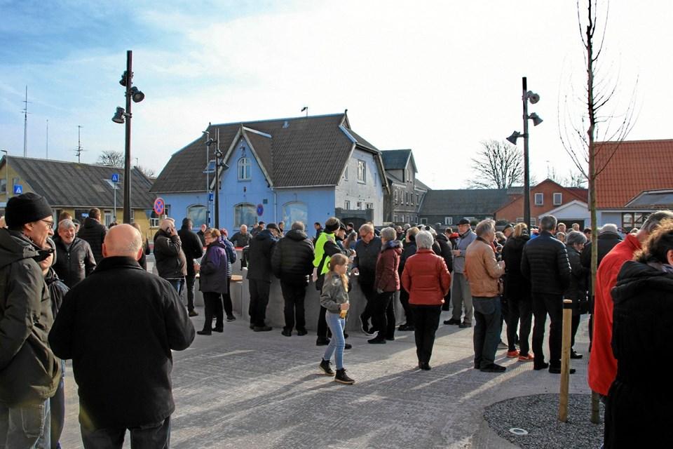 Omkring 150 personer deltog i indvielsen Foto: Hans B. Henriksen Hans B. Henriksen