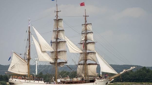 Blæsten går sædvanligvis frisk over Limfjordens vande, og det er noget de mange deltagende skibe i The Tall Ships Races sætter pris på, når der skal lidt fart over feltet. Arkivfoto: Nicolas Cho Meier