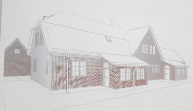 Plantegning af Ane Maries Hus som det tænkes renoveret. Foto: Kirsten Olsen