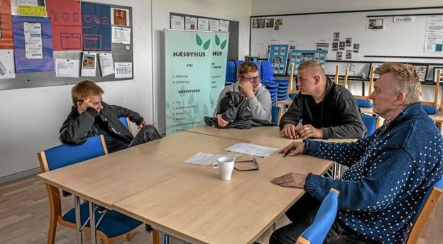Undervisningen var i gang på Næsbyhus Produktionsskole onsdag eftermiddag. Foto: Mogens Lynge Mogens Lynge