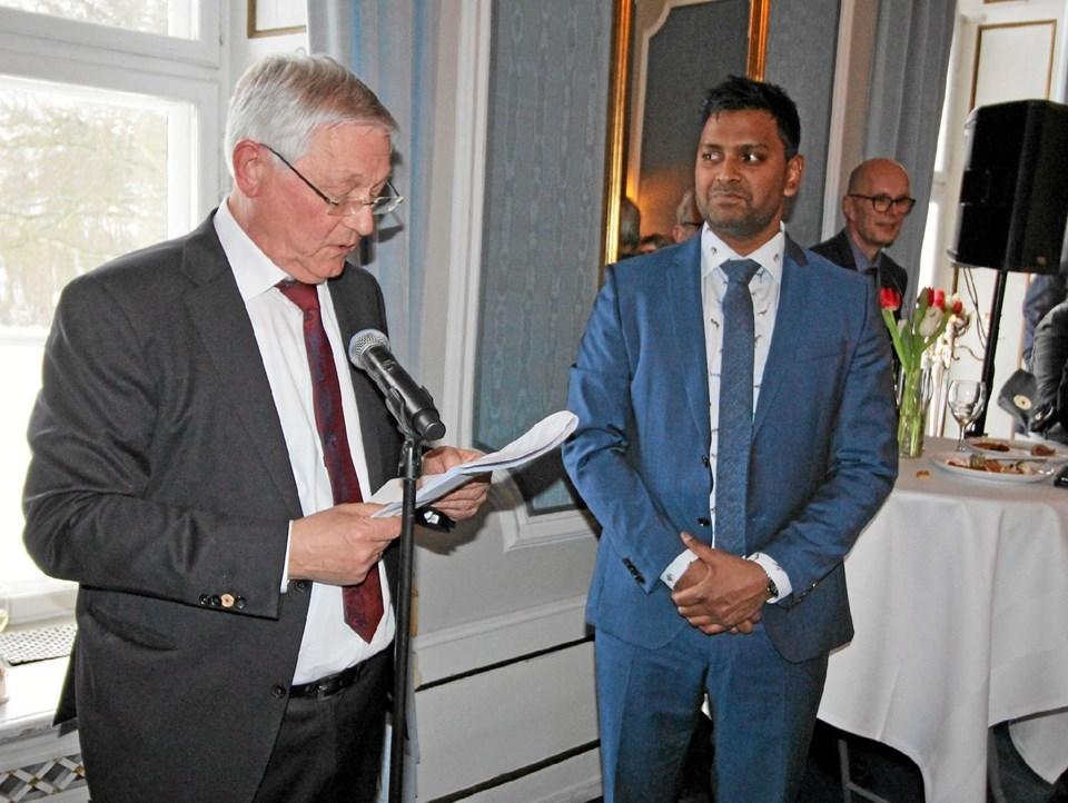 Keld Pedersen, direktør i Nordex Food i 35 år, giver nu stafetten videre til sønnen, Martin Aagaard Pedersen, der nu kan kalde sig direktør i den familieejede virksomhed.Foto: Jørgen Ingvardsen