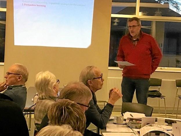 Formand Mogens Gregersen aflægger beretning om det forløbne år. Privatfoto privatfoto