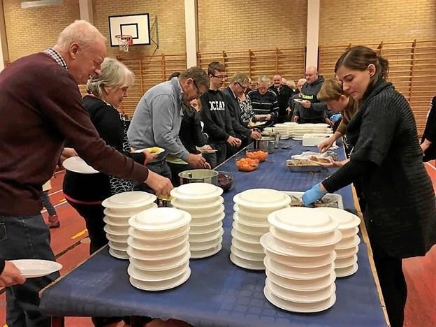 Den årlige spis sammen aften er fredag aften, 8. februar, med skinkesteg med flødekartofler og salat. Privatfoto