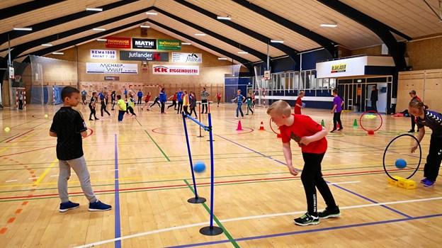 Der var aktiviteter både ude og inde i forbindelse med foreningsfestivalen i Støvring.? Privatfoto