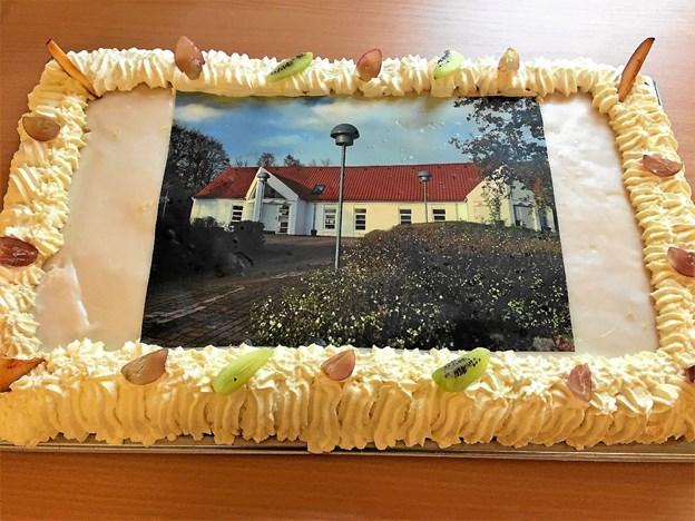 Receptionen var slut, da denne lækre kage var spist. Foto: Karl Erik Hansen Karl Erik Hansen