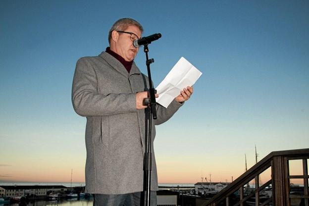 Borgmester Arne Boelts tale bar præg af at, han havde sat sig ind i byens historie. Foto: Peter Jørgensen Peter Jørgensen