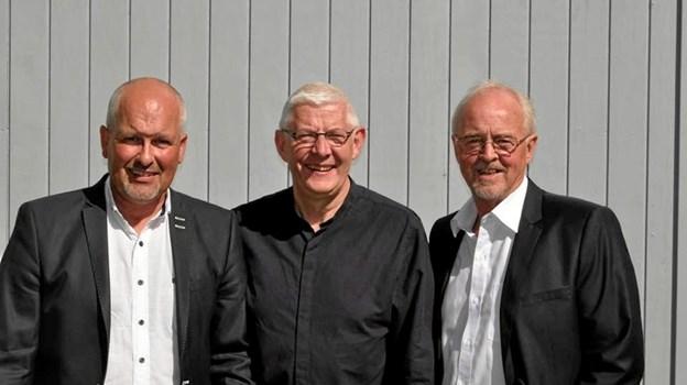 """Preben Kejser, Øystein Walther Nielsen og Keld """"Banjo"""" Kristensen udgør besætningen på 'De lune Jyder' - lokale drenge der har spillet sammen siden 1982. Foto: privat"""