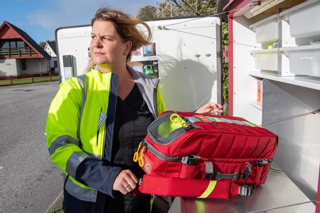 Akuthjælperordningen fungerer en halv snes steder i Nordjylland - blandt andet i Mou og Egense, hvor Sabrina Hoppe er en af ildsjælene.