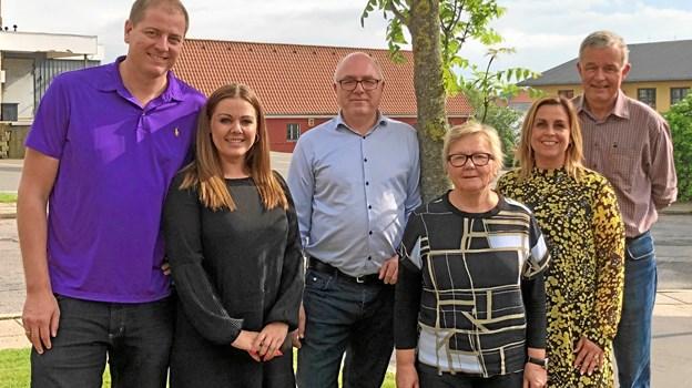 Vendelbohus' bestyrelse: Fra venstre er det Jesper Spanner, Pernille Ørum Pedersen, Brian Thomasberg, Anne Mette Ovesen, Rikke Ejsenhardt og Kurt Larsen